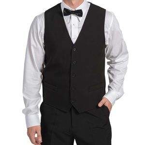 🌸Executive Apparel Men's Black Vests 1198